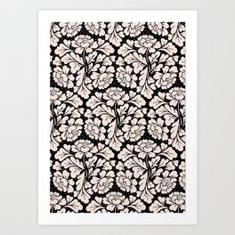 Barroco pink and black Art Print