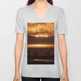 Sensational Sunset Unisex V-Neck