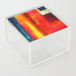 Color Fields II Modern Abstract Art Painting Acrylic Box