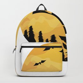 Dachshund And Moon Halloween Dachshund Lovers Graphic Gifts Backpack