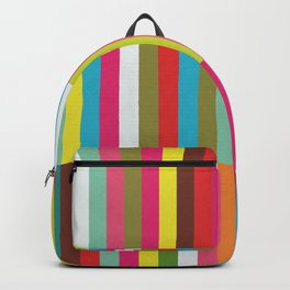 Bright Colorful Stripes Pattern - Pink, Green, Summer Spring Abstract Design by Backpack