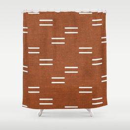 double dash - burnt orange Shower Curtain