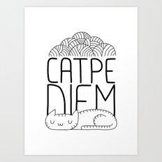 CATPE DIEM Art Print