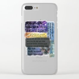 ACOMAF QUOTES Clear iPhone Case