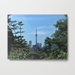 CN Tower from Casa Loma Metal Print