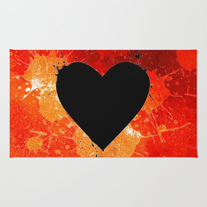 Red Hot Heart Rug
