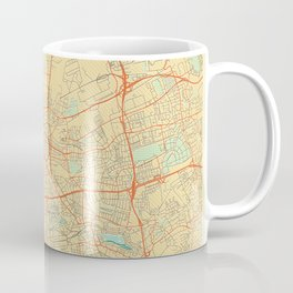Dortmund Map Retro Coffee Mug