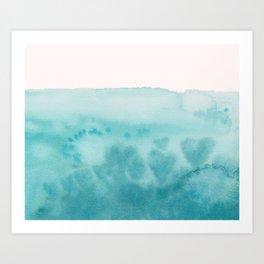 Waves of Love Aqua Art Print