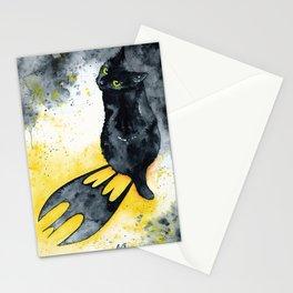 Bat Cat Stationery Cards