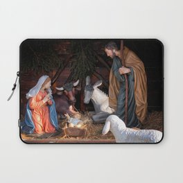 Christmas and Christianity. Nativity scene. Laptop Sleeve