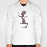 groot Hoodies featuring Dancing Groot by Charleighkat