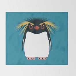 Rockhopper Penguin Throw Blanket