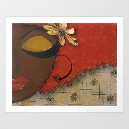 Chocolate Sassy Girl Art Print