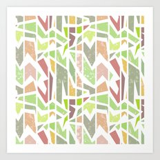 Abstract pattern . Geometric shapes . Art Print