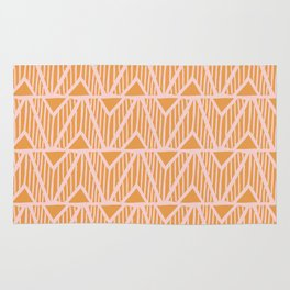 mala, african tribal pattern tangerine Rug