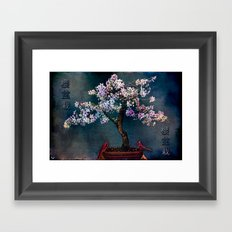 Sakura Bonsai Framed Art Print