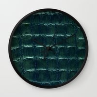 crocodile Wall Clocks featuring crocodile by clemm