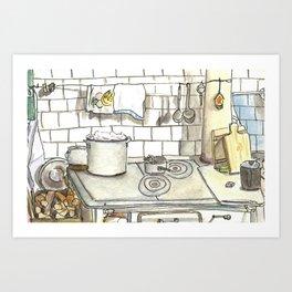 Grandmother's kitchen Art Print