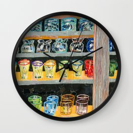 Shop Window Wall Clock
