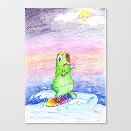 Surfin Ufo  Canvas Print