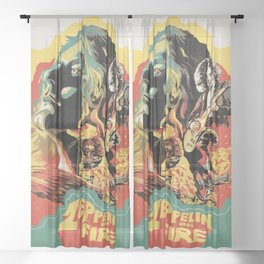 Zeppelin on Fire Sheer Curtain