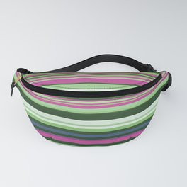 Old Country Stripes - Spring Rasberry - Horizontal Fanny Pack