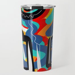 Wild Heart Street Art Graffiti Primitive Travel Mug