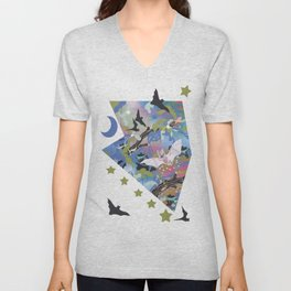 Illuminated Bat Unisex V-Neck