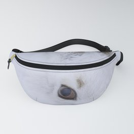 White bunny, white snow Fanny Pack