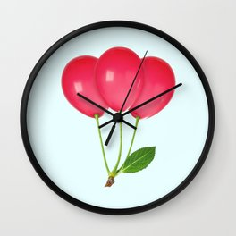 CHERRY BALLOONS Wall Clock