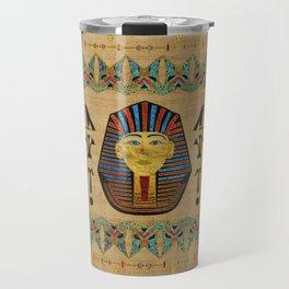Egyptian Sphinx Ornament on papyrus Travel Mug