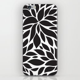 Pattern Petals black and white iPhone Skin