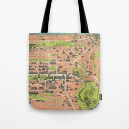 Vintage Map of Edinburgh Scotland (1935) Tote Bag