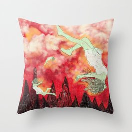 witches brew. (mint) Throw Pillow