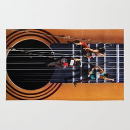 Surreal Guitar Climbers  Rug