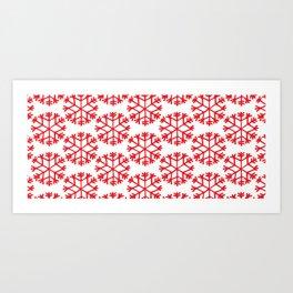 Snowflakes Xmas Art Print
