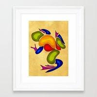 frog Framed Art Prints featuring Frog by Aleksandra Mikolajczak