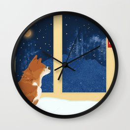 Volcano View Wall Clock