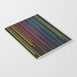 Rainbow Raining at Night Notebook