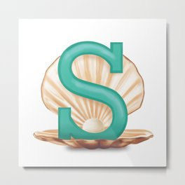 S is for Shell Metal Print