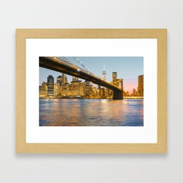 After the sun goes down Framed Art Print