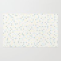 polka dot Area & Throw Rugs featuring Polka Dot by Alisa Galitsyna
