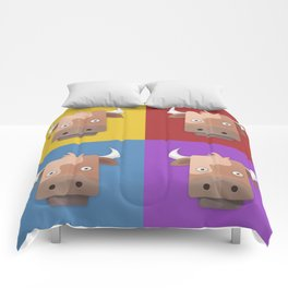 Warhol's Cow Comforters