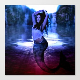 The Red Lake Canvas Print