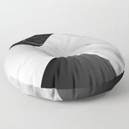 Monochromatic Marble Collage  Floor Pillow