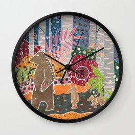Fête de la Forêt Wall Clock