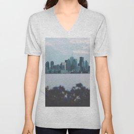 View of Toronto skyline Canada Unisex V-Neck
