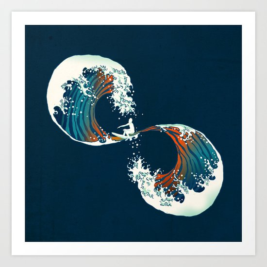 The Wave is forever Art Print