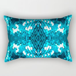 girly glam turquoise blue sequins mermaid scales Rectangular Pillow