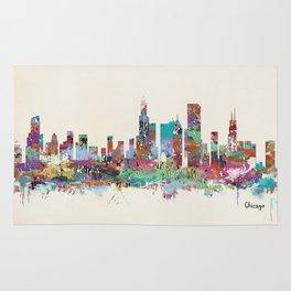 Chicago Illinois skyline Rug